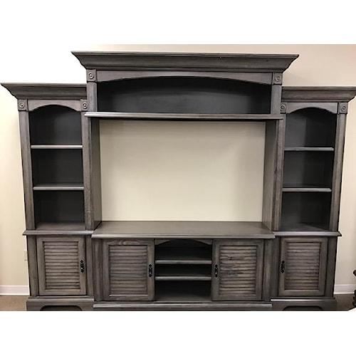 Oak Furniture West 4049DFW Wall Unit
