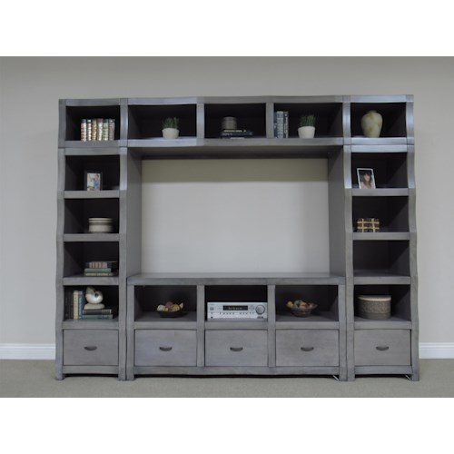 Oak Furniture West 6078-6049 Cube Style TV wall unit