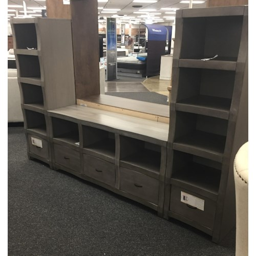 Oak Furniture West 6078-6049 Cube Style TV wall unit
