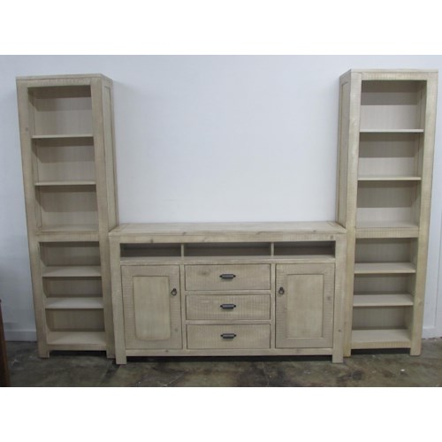 Oak Furniture West 6149BL Wall Unit