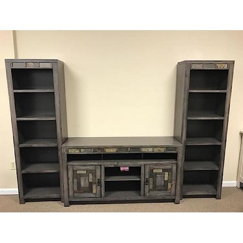 Oak Furniture West 6660 Wall Unit