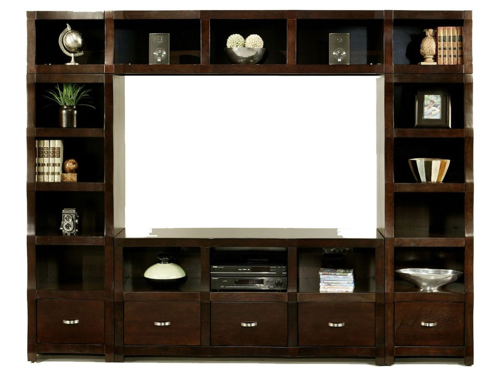 Shown with Left Bookcase, TV Console and Topper Bridge