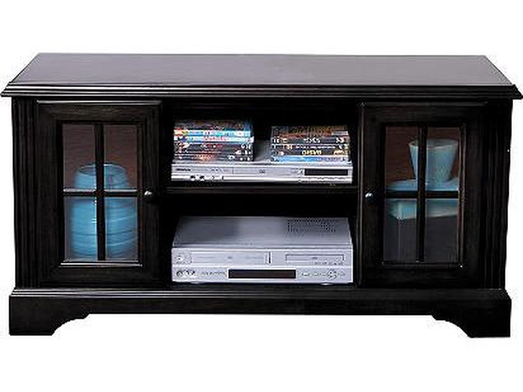 Econoline Ii Traditional 48 Tv Console With Framed Gl Doors By Oak Furniture West At Fair North Carolina