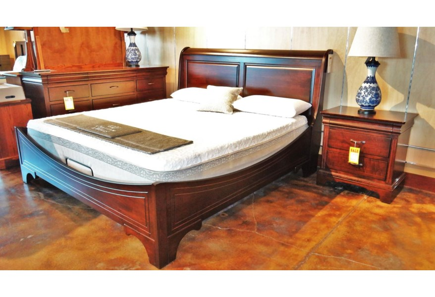 Oakwood Industries Edinburgh Queen Sleigh Bed With Panel Headboard And Curved Footboard Mueller Furniture Panel Beds