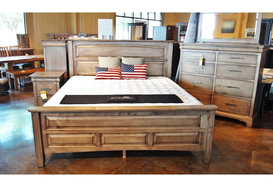 Oakwood Industries Edinburgh Queen Panel Livingston Bed With Block Feet Mueller Furniture Panel Beds