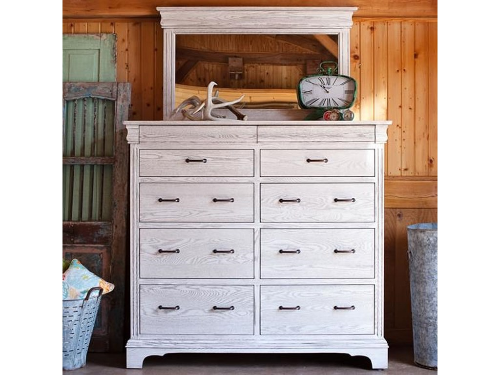 Oakwood Industries EdinburghGrand Dresser and Mirror Set