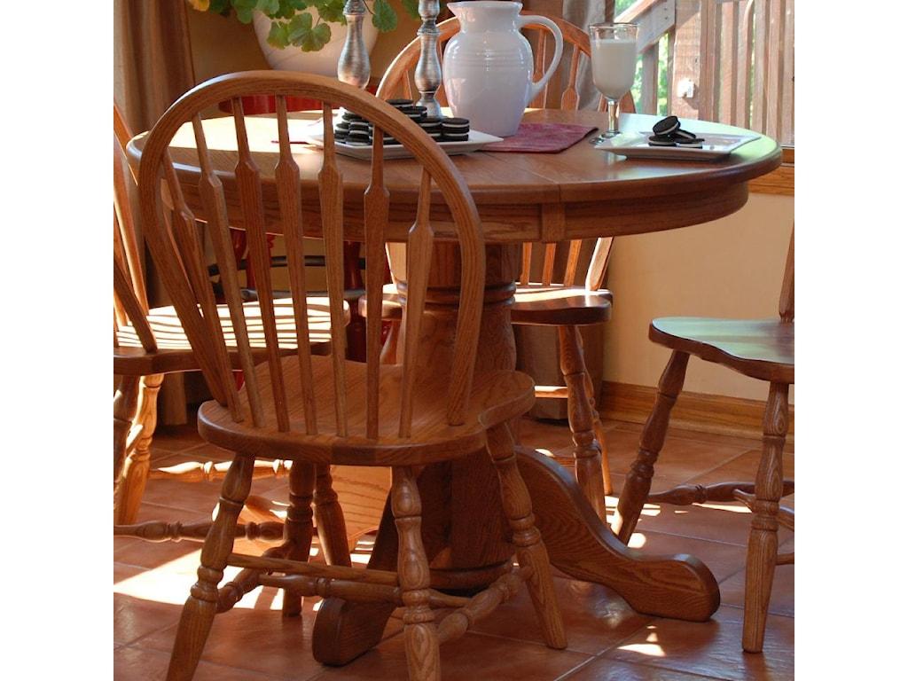 Oakwood Industries Casual DiningRound Pedestal Table