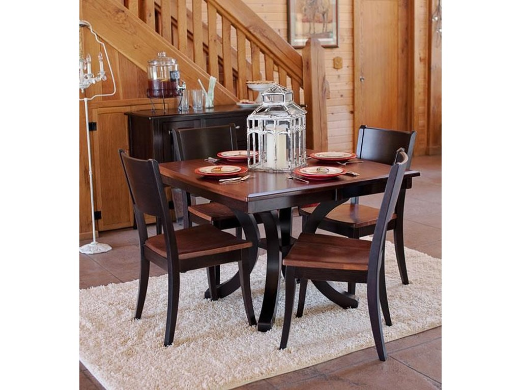Oakwood Industries Casual DiningBellevue Single Pedestal Dining Table