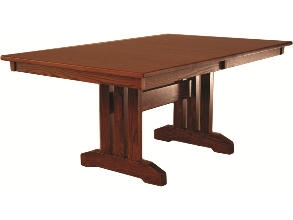 Oakwood industries casual dining mission dining table mueller oakwood industries casual diningmission table workwithnaturefo