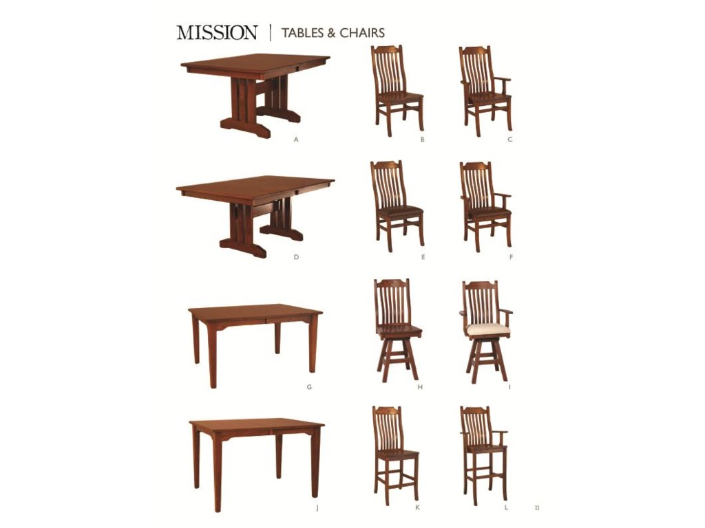 Oakwood Industries Casual DiningMission Table