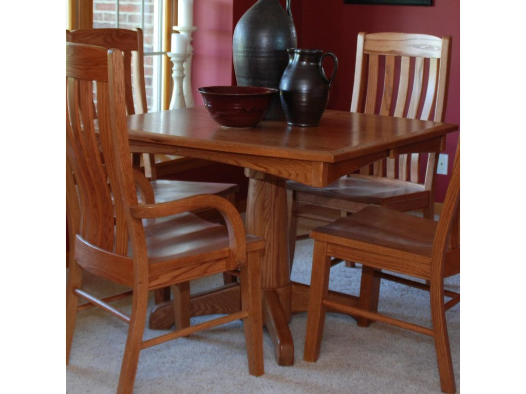 Oakwood Industries Casual DiningLighthouse Single Pedestal Table