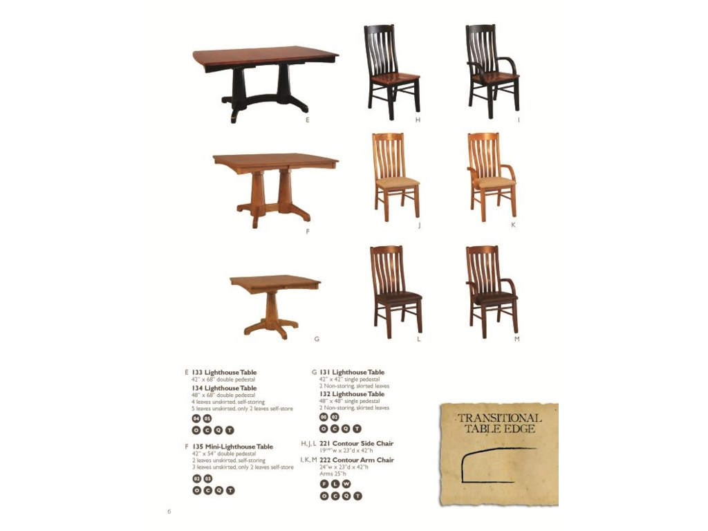 Oakwood Industries Casual Dining7 Piece Dining Set