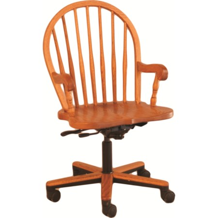 Bow Spindle Gas Lift Arm Chair