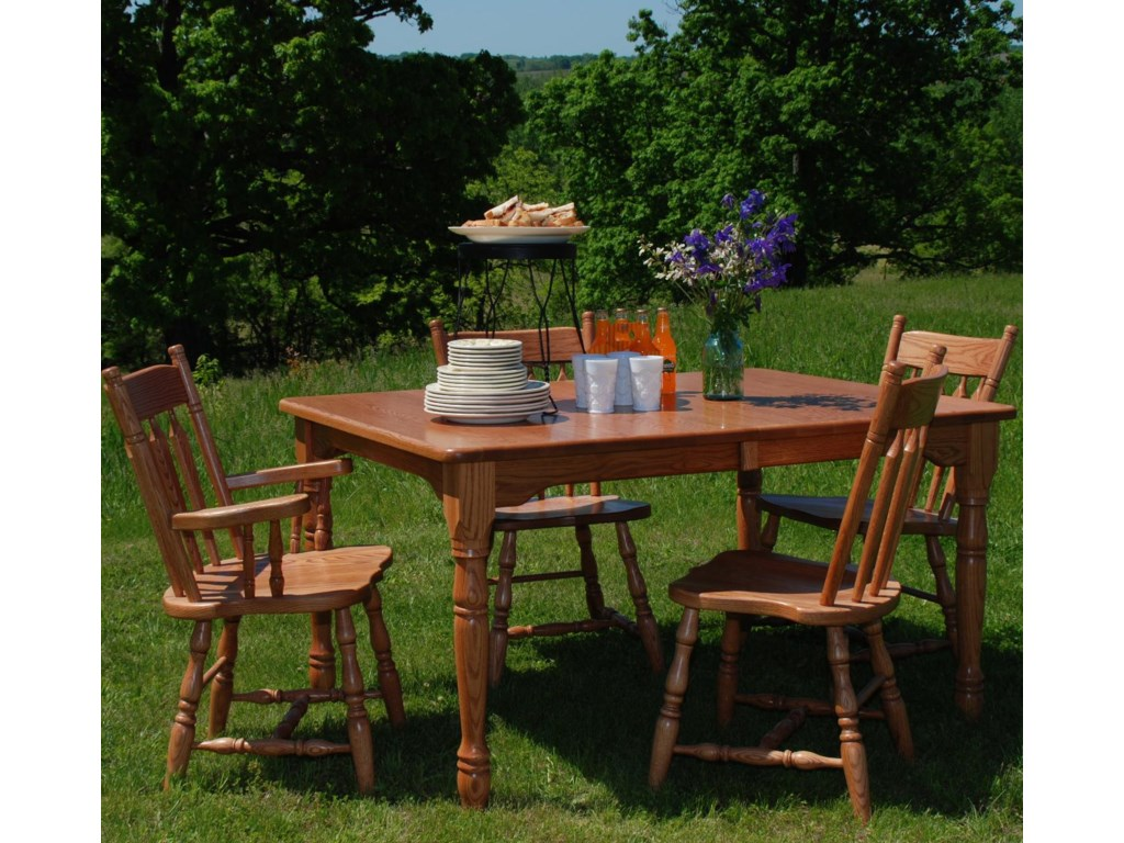 Oakwood Industries Casual DiningPlain Back Arm Chair