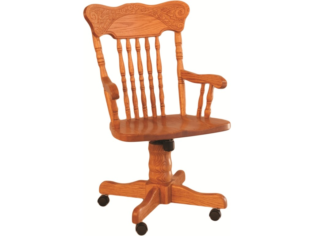 Oakwood Industries Casual DiningPressed Back Roller Arm Chair