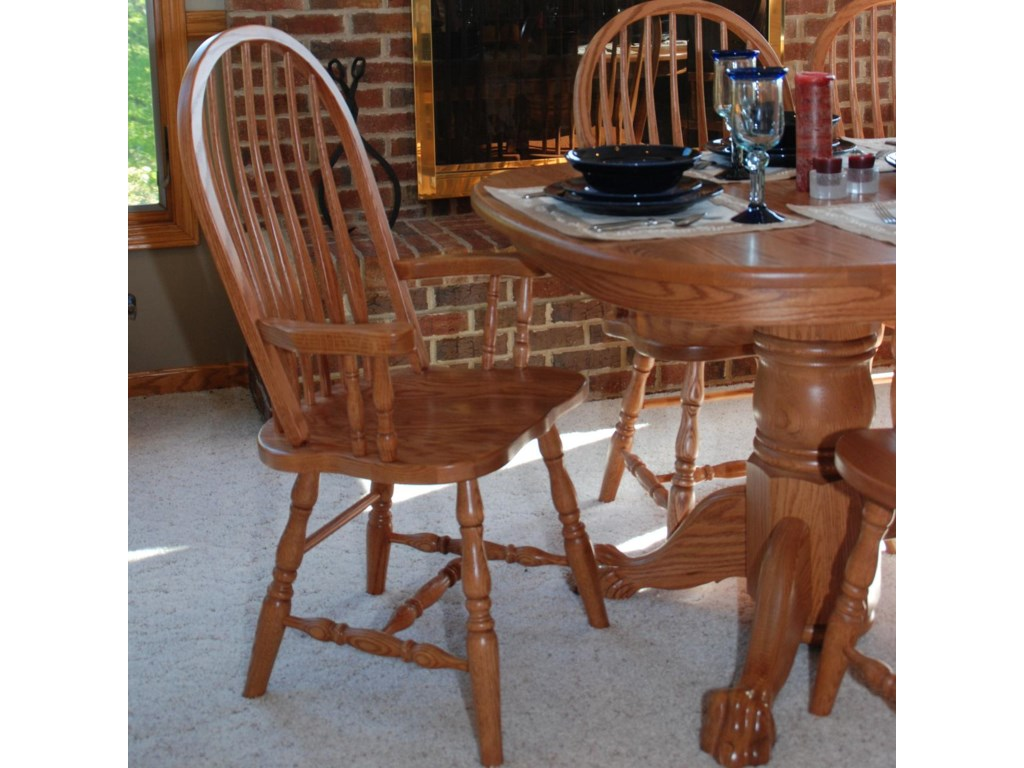 Oakwood Industries Casual DiningBent Back Arm Chair