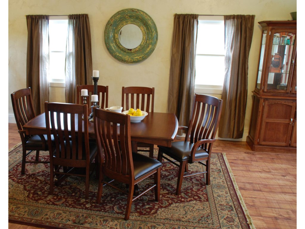 Shown in Room Setting with Table, Arm Chairs and Hutch