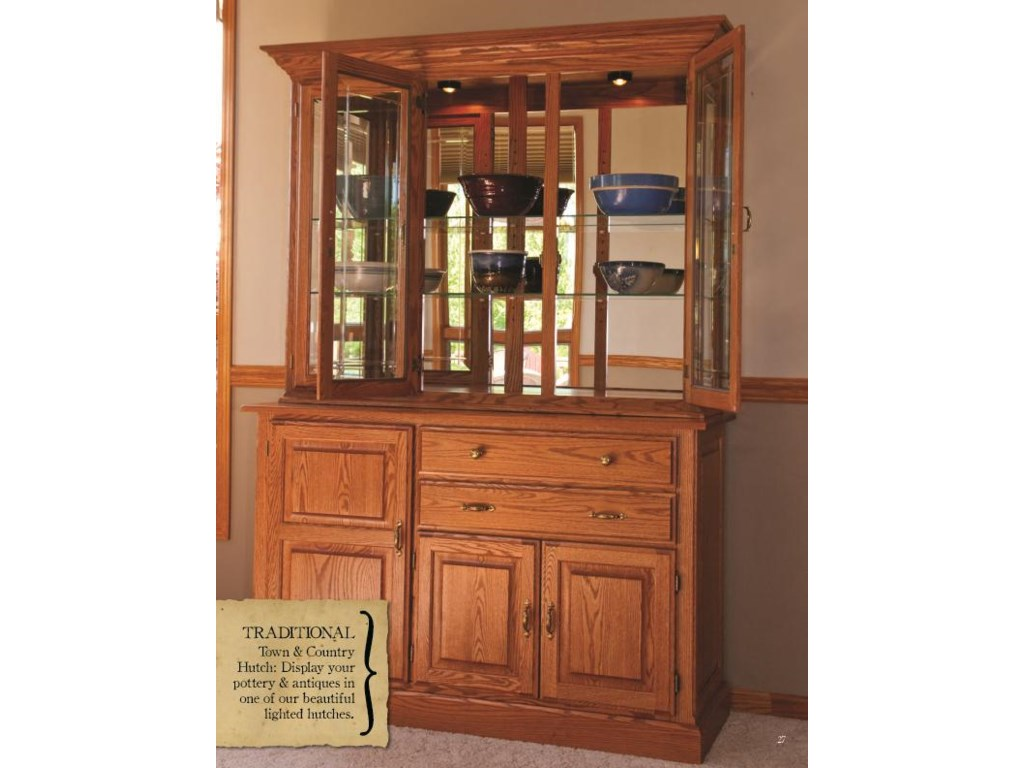 Oakwood Industries Casual DiningHomestead China Hutch and Buffet