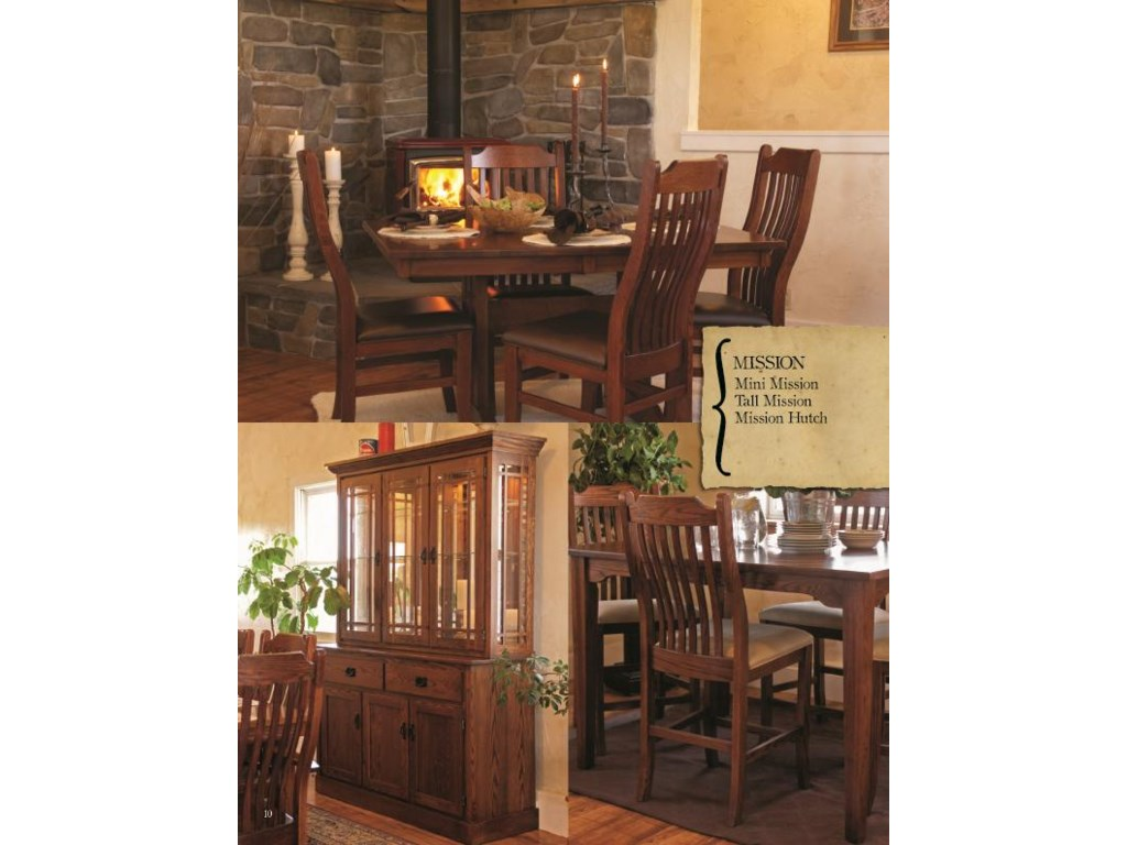 Oakwood Industries Casual DiningMission Hutch