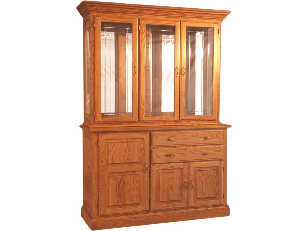Oakwood Industries Casual DiningTown and Country Hutch and Buffet