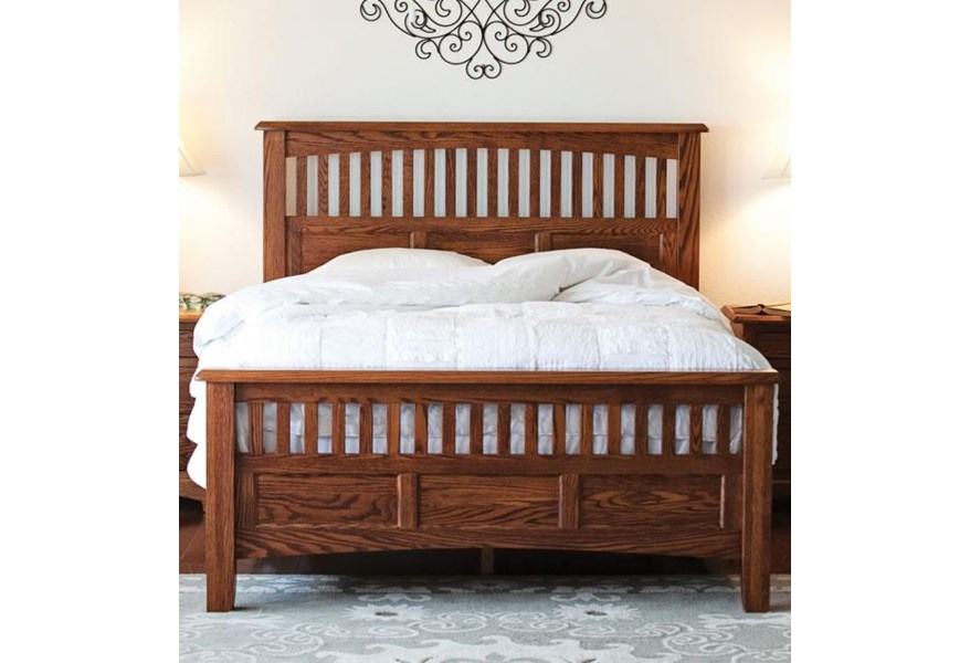 Oakwood Industries Westbrook Queen Bed With Panel Headboard And Footboard With Slats Mueller Furniture Panel Beds