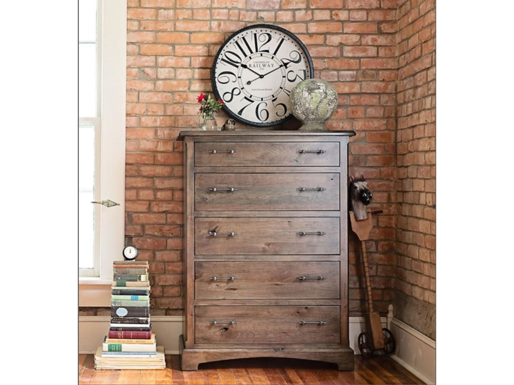 Westbrook Solid Wood Amish 5 Drawer Chest Of Drawers With Bracket Feet By Oakwood Industries