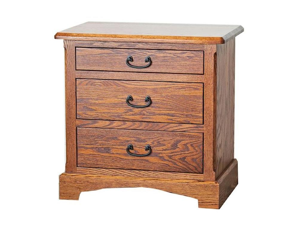 Oakwood Industries Westbrook Nightstand Solid Wood With Three Dawers