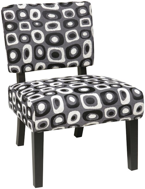 Office Star Accent Chairs Jasmine Accent Chair w/ Exposed Wood