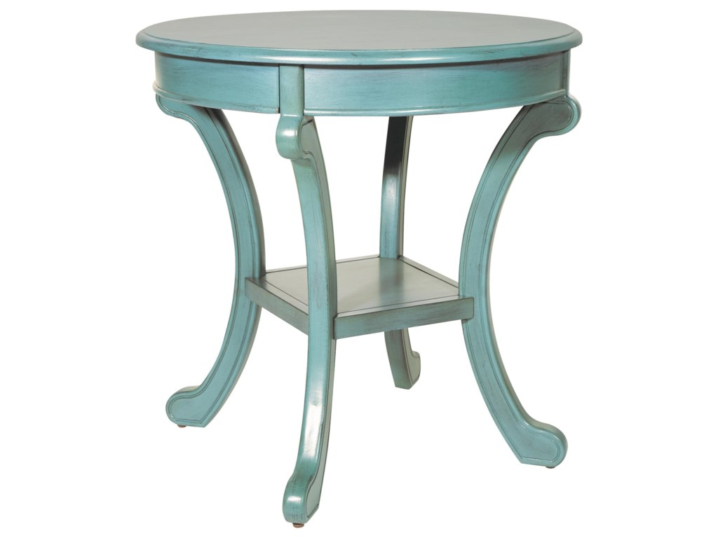 Office Star Accent TablesCaribbean Blue Chairside Table