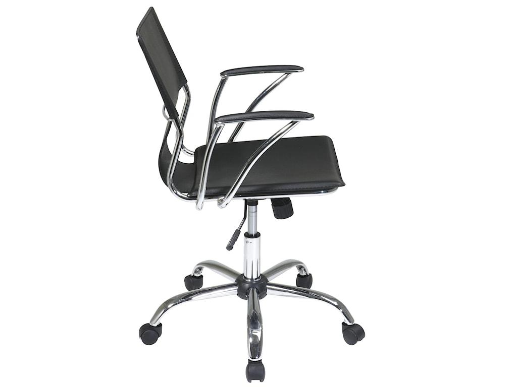 Dorado Chrome Office Chair With Pvc