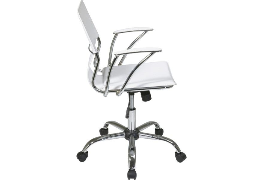 Office Chair With Pvc Upholstery