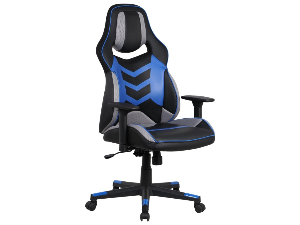Office Star Gamer ChairsEliminator Blue Gaming Chair