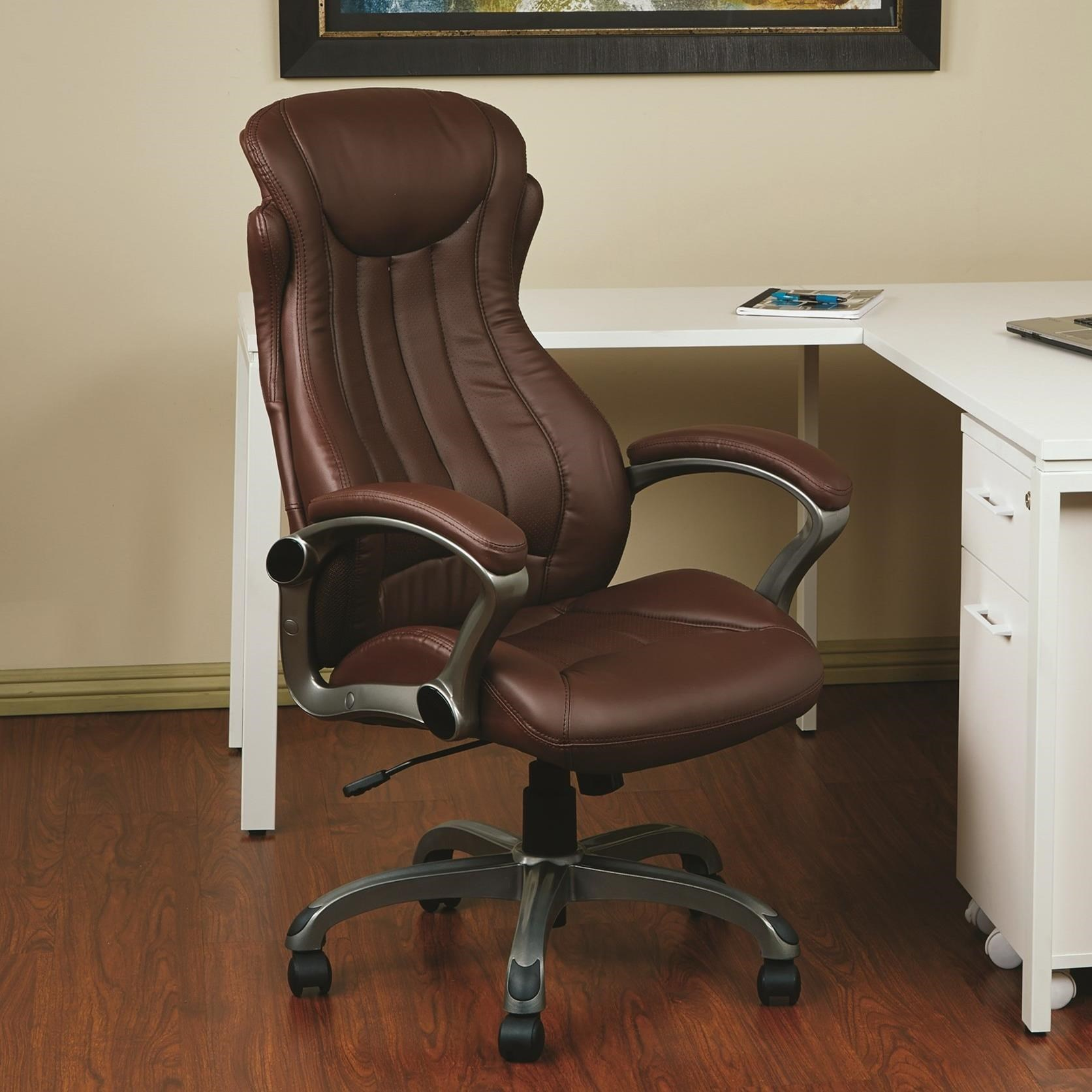 Office Star Office ChairsBonded Leather Executive Chair ...