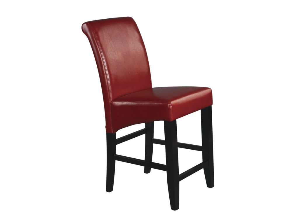 Office Star Parson Bar Stools 24 Inch Eco Red Stool