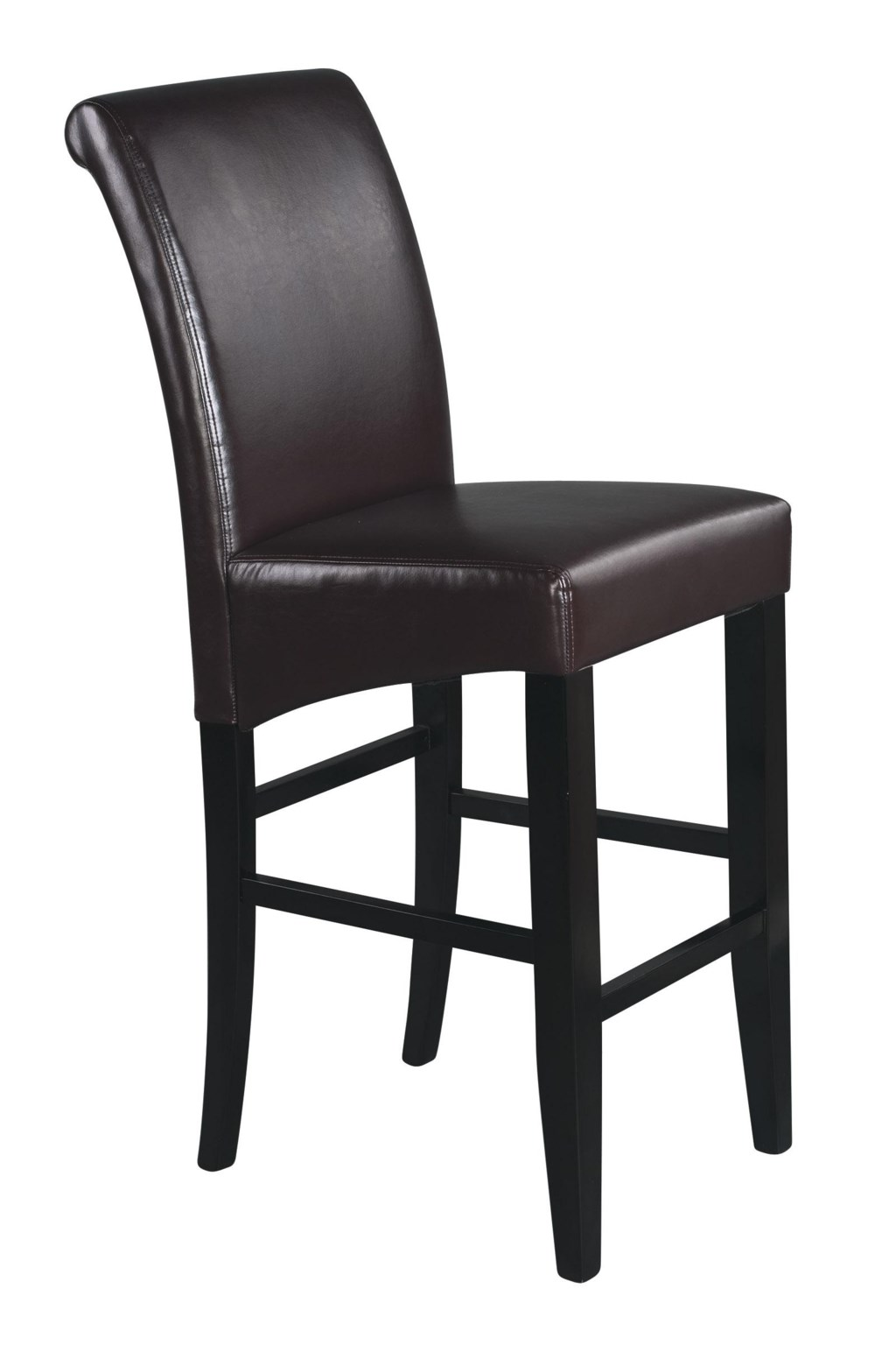 Office Star Parson Bar Stools 30 Inch Eco Leather Bar Stool