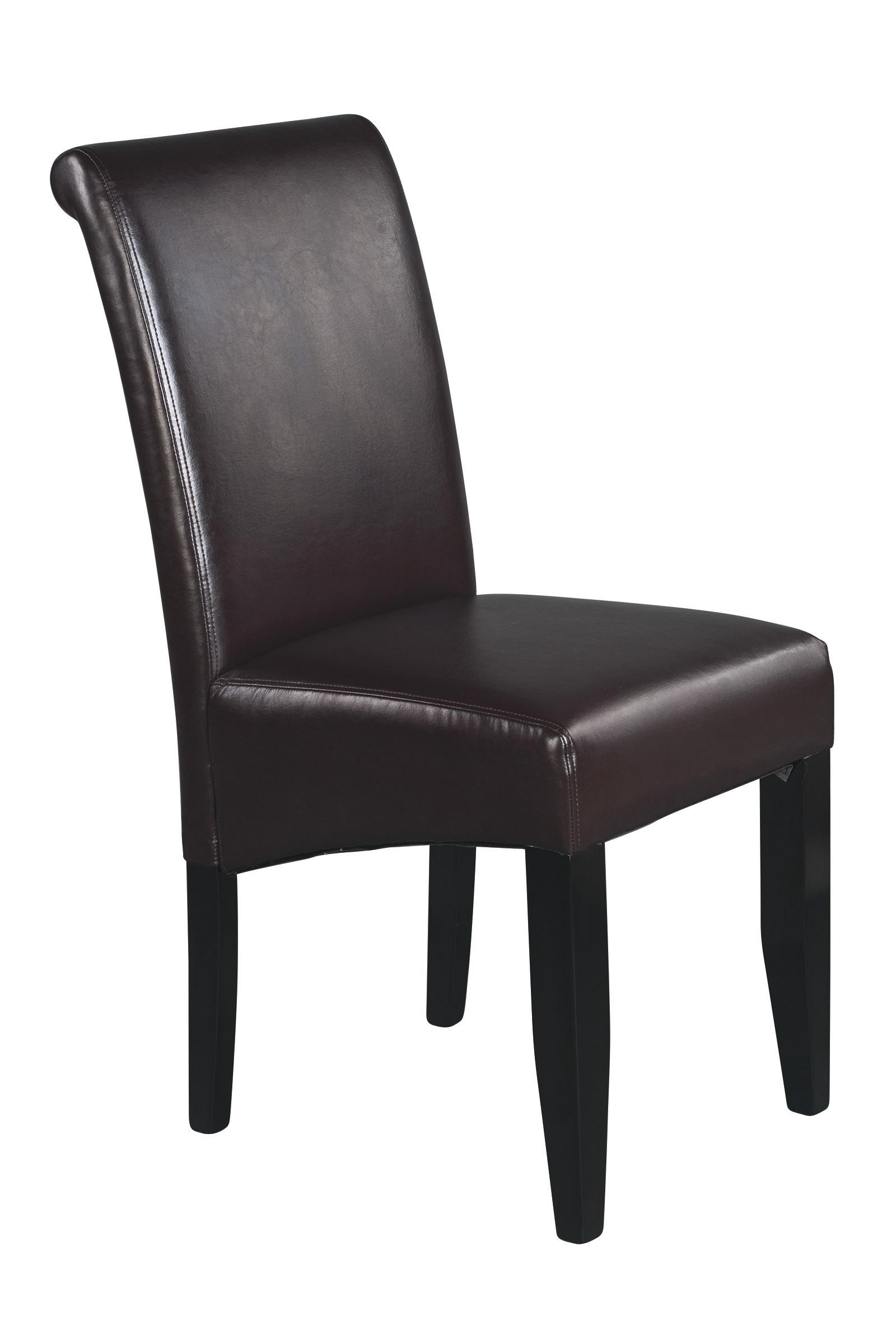 Office Star Parson Chairs Espresso Finish Eco Leather Side Chair