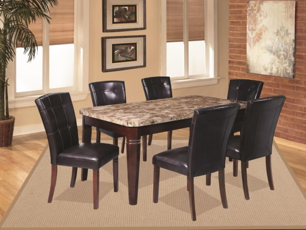 8 Piece Casual Dining Group with Storage
