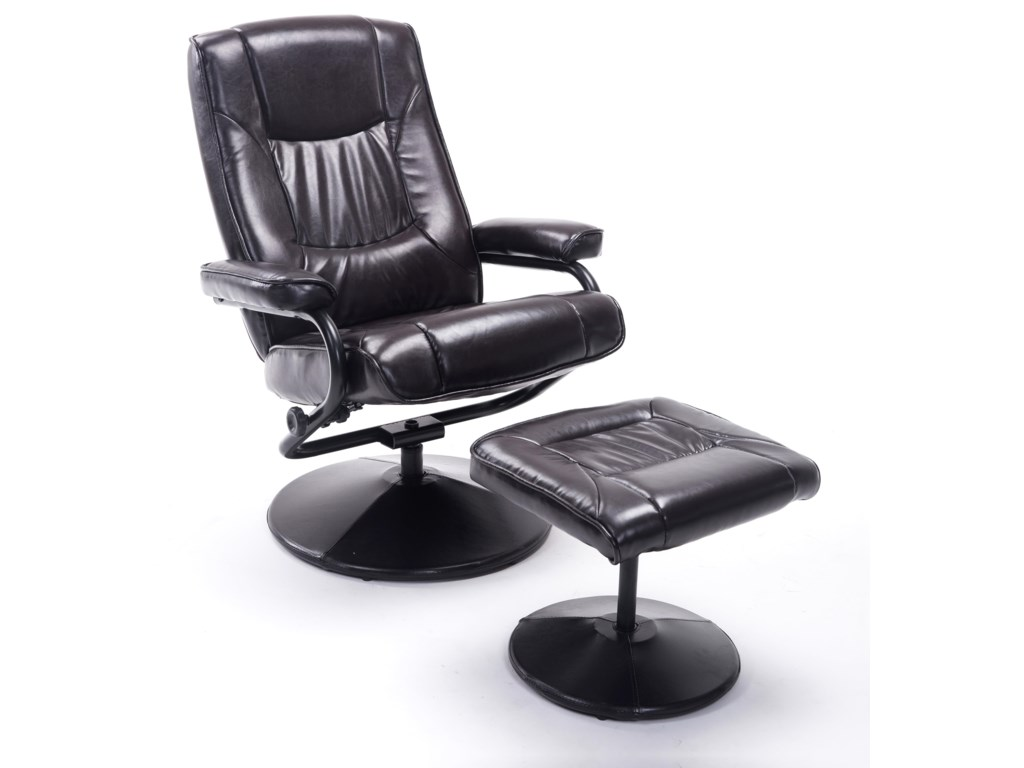 Offshore Furniture Source ChairsBrown Swivel Recliner and Ottoman