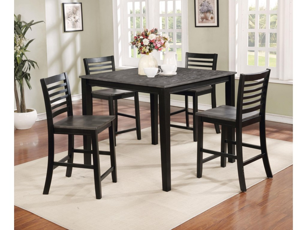 Offshore Furniture Source Dining Group5 Piece Counter Height Dining Set