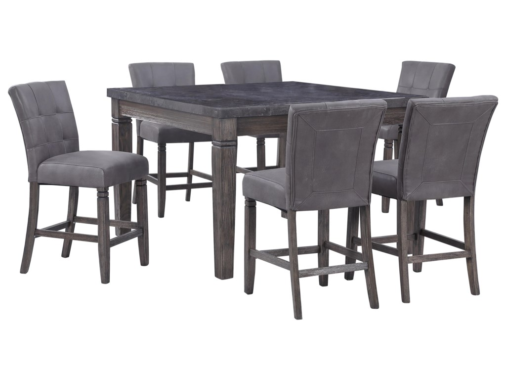 Fillmore 8 Piece Counter Height Dining Set