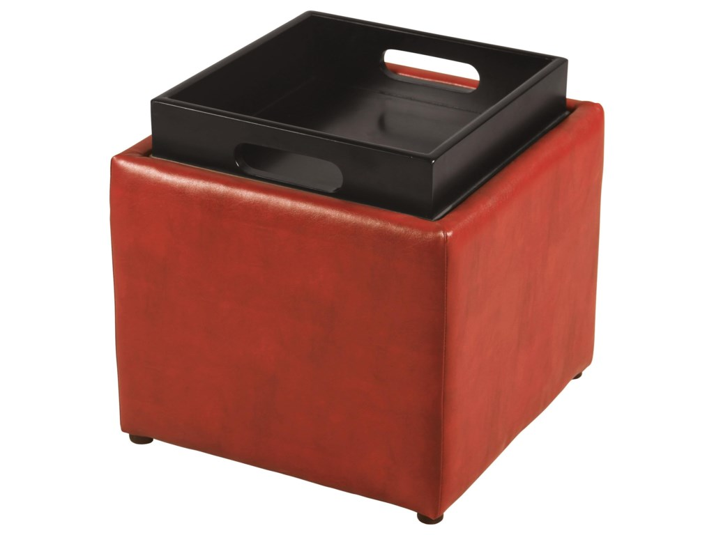Offshore Furniture Source TraciRed Flip Top Storage Cube