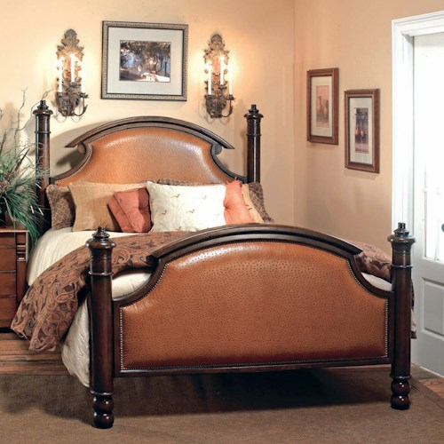 Old Biscayne Designs Custom Design Solid Wood Beds Ansley Marie Carved Wood  Bed with Upholstered Accents. Old Biscayne Designs Custom Design Solid Wood Beds Ansley Marie