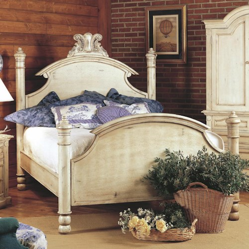 Old Biscayne Designs Custom Design Solid Wood Beds Ansley Carved Wood Headboard and Footboard Bed