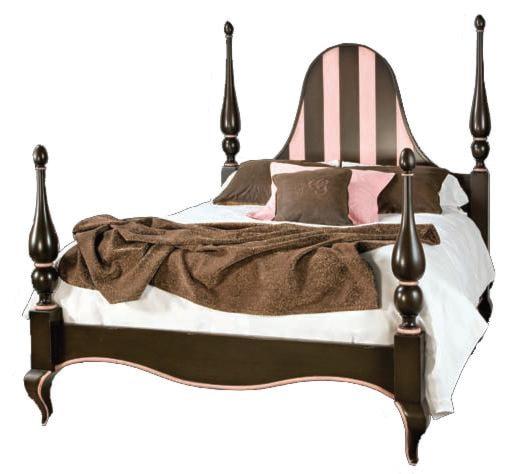 Old Biscayne Designs Custom Design Solid Wood BedsFelicity Carved Wood Bed