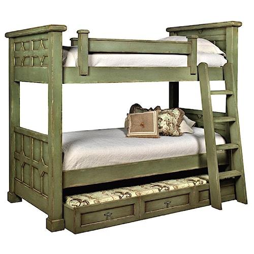 Old Biscayne Designs Custom Design Solid Wood Beds Kristina Wood Bunk Bed  with Trundle - Old Biscayne Designs Custom Design Solid Wood Beds Kristina Wood