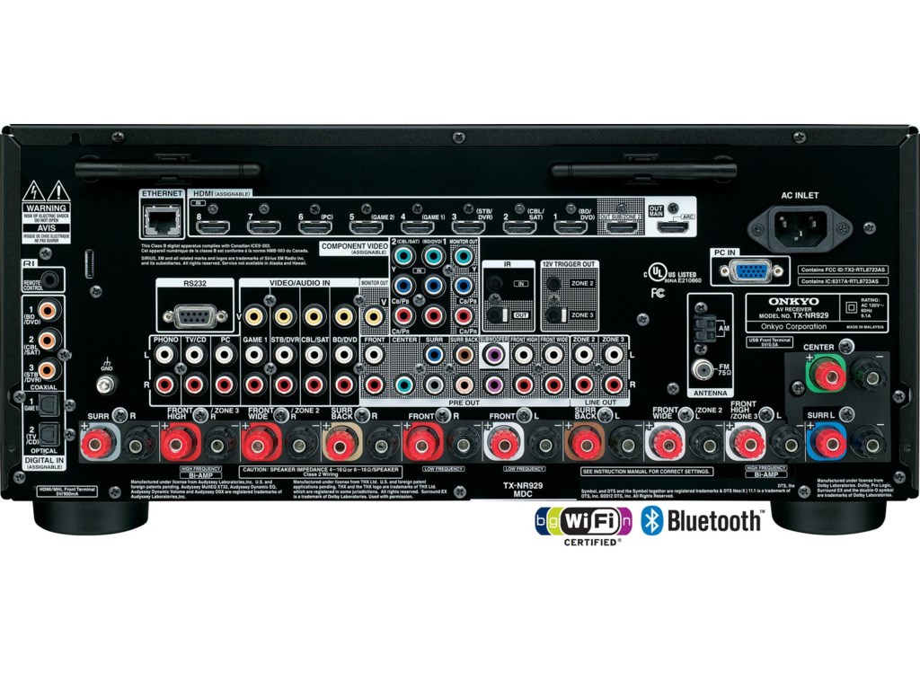 9 HDMI Inputs (1 Front/8 Rear) and 2 Outputs