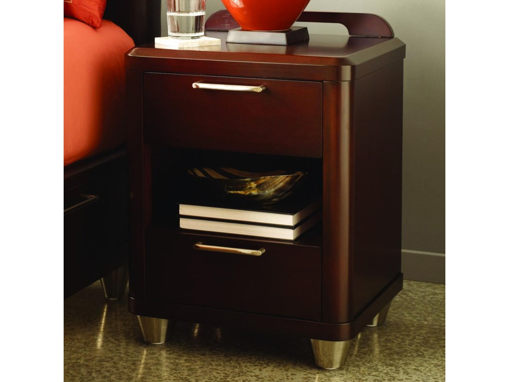 Opus Designs AuraTwo Drawer Nightstand
