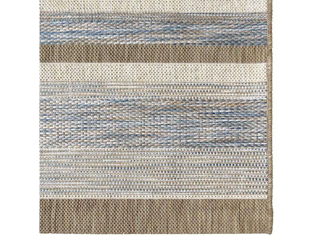 Orian Rugs BreezeCasual stripe mink/raw blue 5'1
