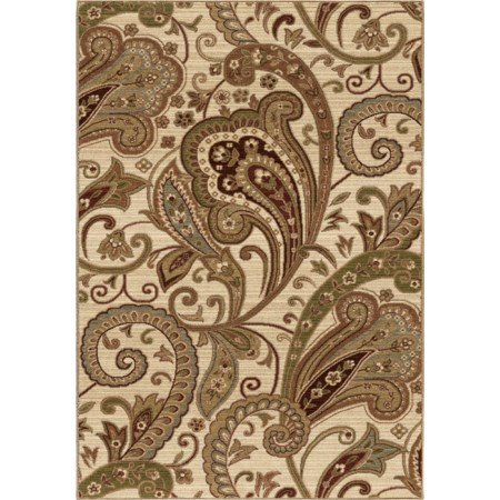 "Windsor White Beige 7'10"" x 10'10"" Rug"