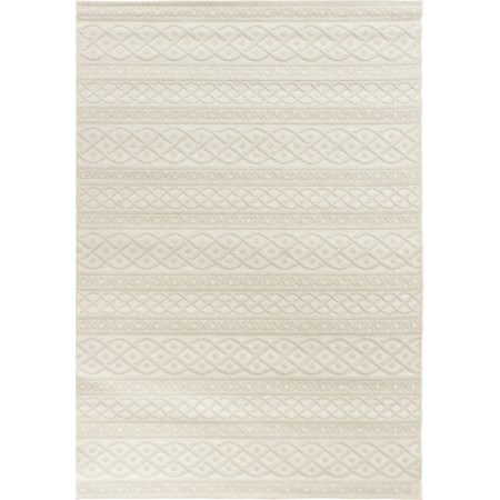 """Organic Cable ivory 5'1"""" x 7'6"""" Rug"""